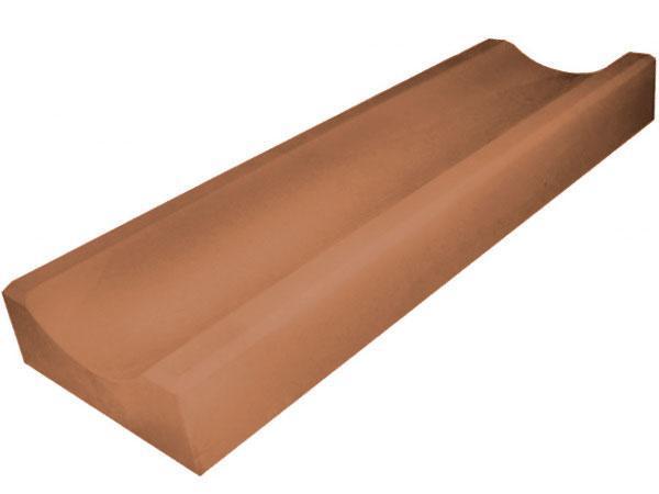 Водосток, отлив бетонный LAND BRICK 590х155х40 мм коричневый