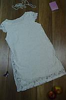 Однотонное ажурное летнее женское платье прямого кроя  Italy, фото 1