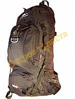Рюкзак туристический каркасный POLAR Adventure 65 литров 2346 черный