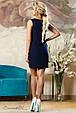 Красивое  летнее  платье 2141 темно-синий, фото 4