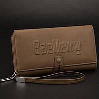 Baellerry Exellence, мужской кошелек-клатч на руку цвета хаки, фото 1