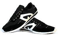 41 и 42 р  Мужские легкие кроссовки черные (Ч-15)