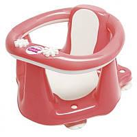 Сиденье для купания с антискользящим покрытием и термодатчиком OK Baby Flipper Evolution розовый (37990030/48)
