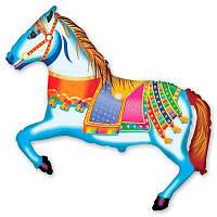 Фольгированные шары фигура Лошадь цирковая 103х75 см