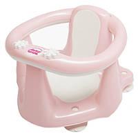 Сиденье для купания с антискользящим покрытием и термодатчиком OK Baby Flipper Evolution нежно-розовый (37990035/54)