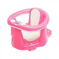 Сиденье для купания с антискользящим покрытием и термодатчиком OK Baby Flipper Evolution розовое (37990040/66)
