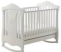 """Детская кроватка качалка BABY ITALIA """"MIMI WHITE"""" белый бук (MIMI WHITE)"""