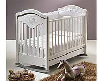 Кроватка детская Baby Italia Gioco Lux белый, бук (GIOCO LUX WHITE)