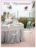 Свадебная скатерть с Вашим логотипом (под заказ от 50 шт)