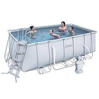 Каркасный бассейн BestWay 56244/56457 (412см x 201см x 122см) + Песчаный фильтр. , фото 1