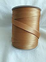 Бейка Лямівка атласна 15 мм, золотисто- медова № 186
