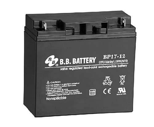 Аккумуляторная батарея B.B. Battery BP 17-12 (12V, 17 Ah)