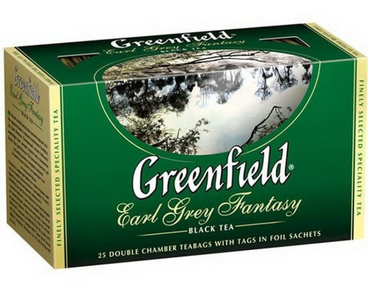 """Чай  черный с бергамотом 25 пакетов """"Greenfield"""""""