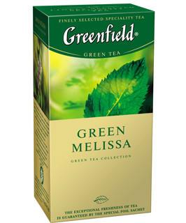"""Чай зеленый со вкусом мелисы 25пакетов """"Greenfield"""""""