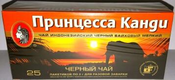 """Чай """"Принцесса Канди"""" черный байховый 25 пакетиков"""
