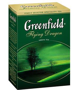 """Чай  """"Greenfield"""" зелёный листовой 100г"""