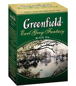 """Чай """"Greenfield"""" черный байховый с ароматом бергамота Fantasy 100г листовой"""