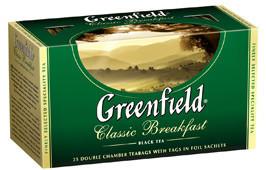 """Чай черный классический 25 пакетов """"Greenfield"""""""