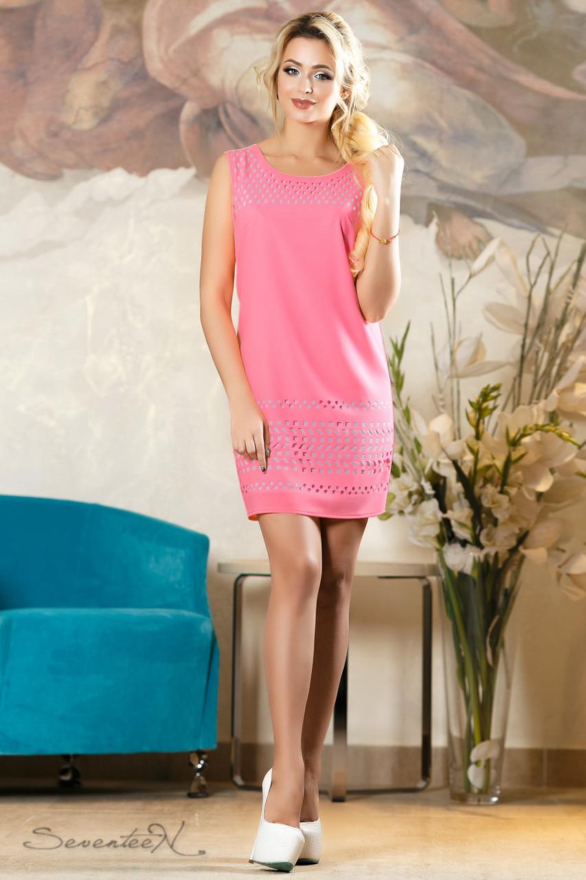 Красивое  летнее  платье 2139 розовый