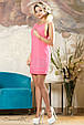 Красивое  летнее  платье 2139 розовый, фото 3