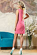 Красивое  летнее  платье 2139 розовый, фото 5
