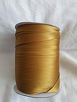 Бейка Лямівка атласна 15 мм, золотисто-гірчічна № 186