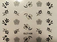 Декоративні 3D наклейки для нігтів з візерунками №2