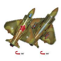 Фольгированные шары фигура Истребитель милитари 90х98 см