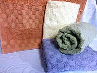 Махровое однотонное банное полотенце  Геометрия Новая (3,6)
