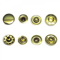 Кнопка средняя №61-D15 золото Alfa
