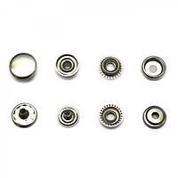 Кнопка сталь D15mm 61 nikel (720шт/уп) PRESMAK