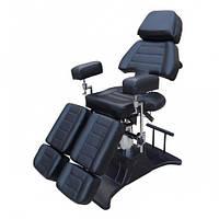 Педикюрное кресло гидравлическое CQ-232 чёрного цвета