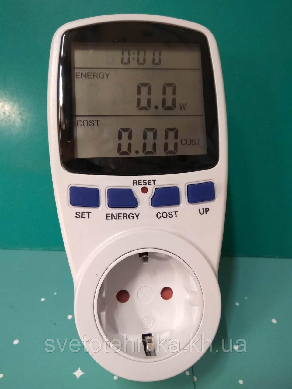 Энергометр (измеритель мощности и расхода электроэнергии) Feron TM55 3680W 230V - фото 9
