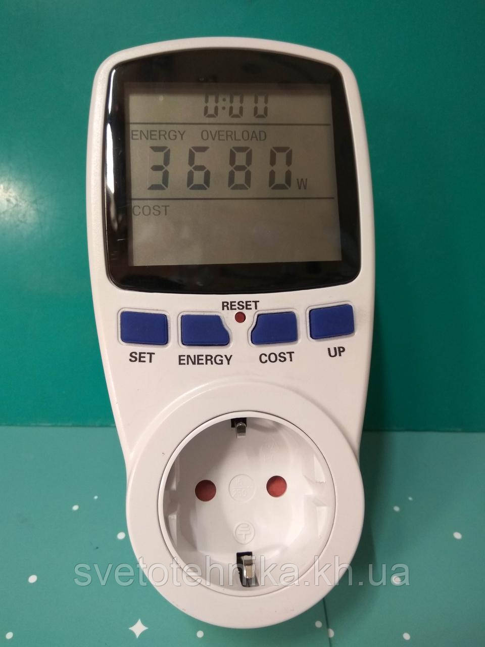 Энергометр (измеритель мощности и расхода электроэнергии) Feron TM55 3680W 230V - фото 5