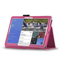 Ярко-розовый чехол для Samsung Galaxy Tab Pro 12.2 из синтетической кожи, фото 1