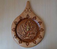 """Деревянные резные часы """"Капля"""" - подарок рыбаку"""