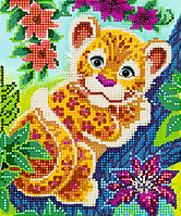 Схема для вышивки бисером POINT ART Леопардик, размер 15х18 см