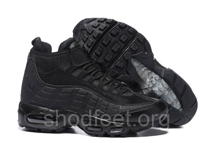 Мужские кроссовки Nike Air Max 95 Sneakerboot Triple Black