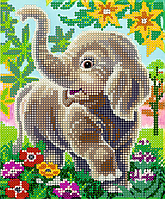 Схема для вышивки бисером POINT ART Слоненок, размер 15х18 см