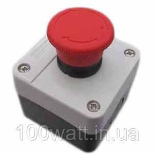 Кнопка грибок красная в корпусе  фиксируемая GAV 642