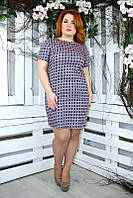 Платье большого размера Коттон круги, платья для полных