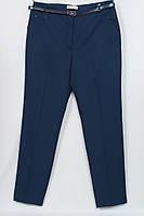 Женские брюки классика темно-синие большого размера Турция
