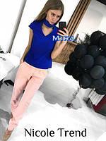 Женская красивая блуза с чокером (4 цвета)