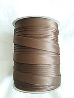 Бейка Лямівка атласна 15 мм., коричнева з золотистим відтінком№ 75