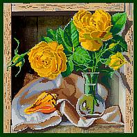 Схема для вышивки бисером POINT ART Чудесные розы, размер 35х35 см