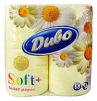 Туалетная бумага Диво Soft желтая (2 слоя, 150 листов) - 4 рулона