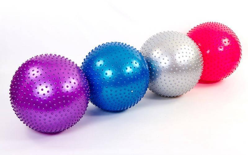 """Мяч для фитнеса (фитбол) """"ZELART"""" массажный d-55 см"""