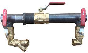 Байпас 40 мм короткий с краном