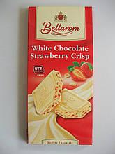 """Шоколад """"Bellarom"""" натуральный белый шоколад с клубникой хрустящей (3,5%), 200г (Германия)"""