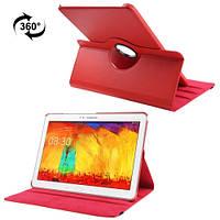 Вращающийся красный чехол для Samsung Galaxy Tab Pro 12.2 из синтетической кожи